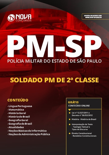 apostila pm-sp 2019 - soldado pm de 2ª classe