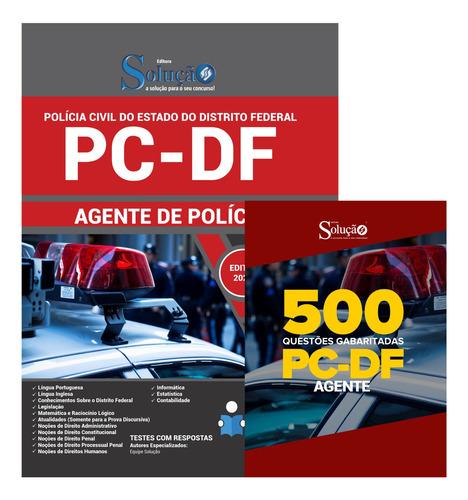 apostila polícia civil pc-df 2020 + 500 questões  livro