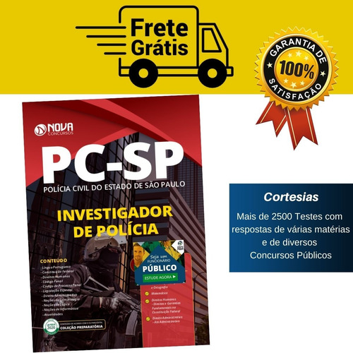 apostila polícia civil sp - investigador de polícia pc sp