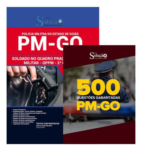 apostila polícia militar pm-go + 500 questões  livro
