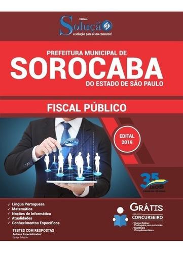 apostila prefeitura de sorocaba sp 2019 - fiscal público