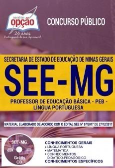 apostila see mg 2018 - professor de português