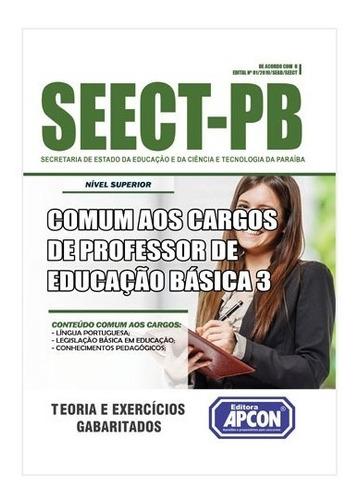 apostila seect-pb básica de professor de educação básica 3
