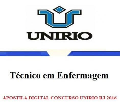 apostila técnico em enfermagem - unirio 2016 (digital)