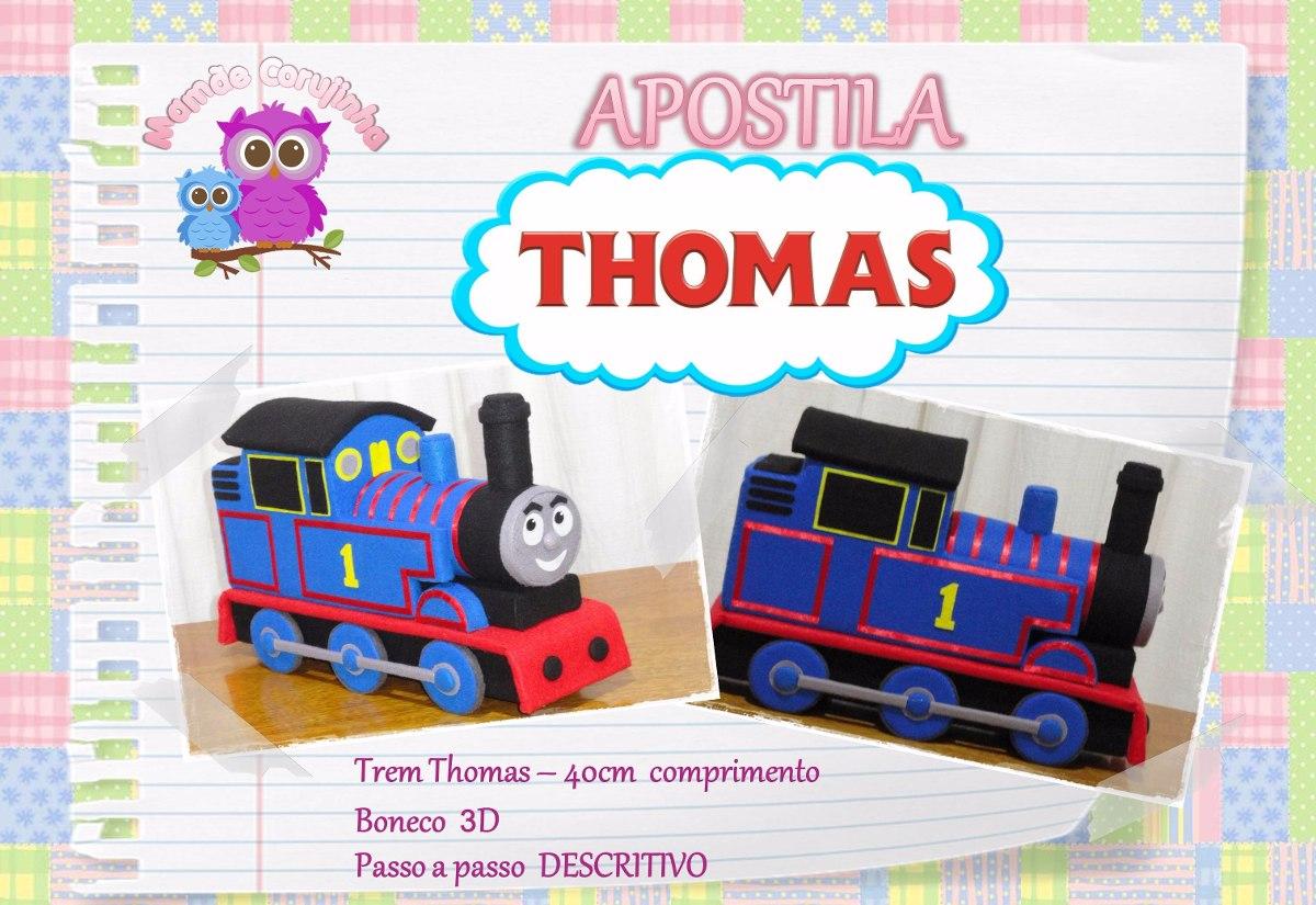 Apostila Trem Thomas Em Feltro Molde Projeto R 2890 Em