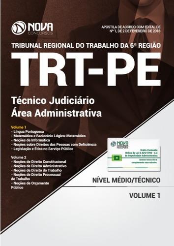apostila trt-pe 6 ª região 2018- técnico judiciário-área adm