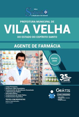 apostila vila velha es 2020 agente de farmácia
