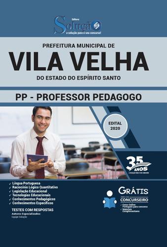 apostila vila velha es 2020 professor pedagogo