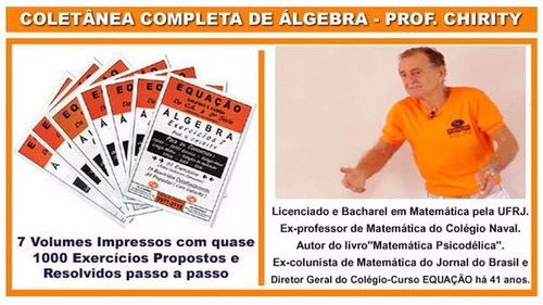 apostilas de álgebra 1000 exercícios professor chirity