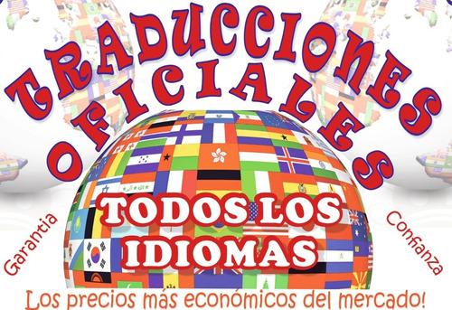 apostille/legalización/traducciones oficiales