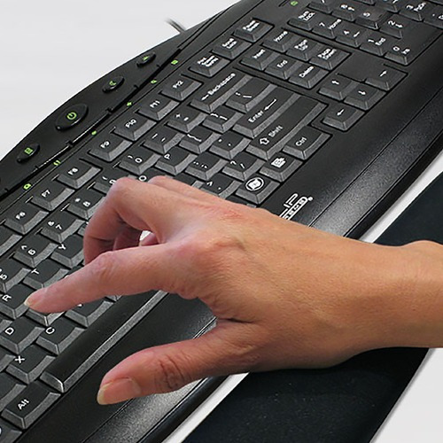 apoya muñeca teclado keyboard pad klip xtreme kkp-100b febo
