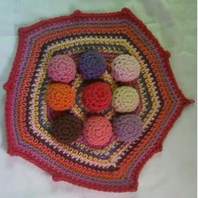 Apoya Pava Tejida Al Crochet En Hilo De Algodón