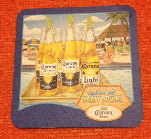 apoya vasos de branca y cerveza corona