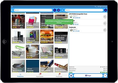 app móvil para facturas digital e inventarios - posmovi
