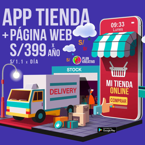 app tienda + página web. único precio por año
