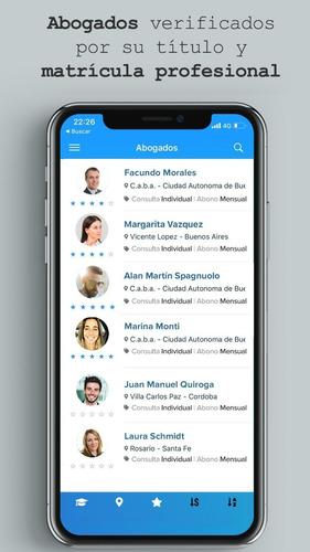 appbogados. app consultas legales en línea. abogados online.