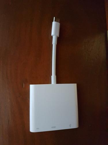 apple - cable usb-c multi av a hdmi usb usb-c - blanco