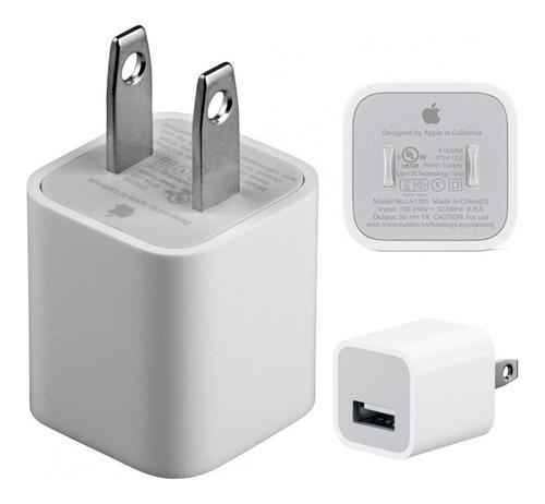 apple cargador americano 5w original  + adaptador chileno