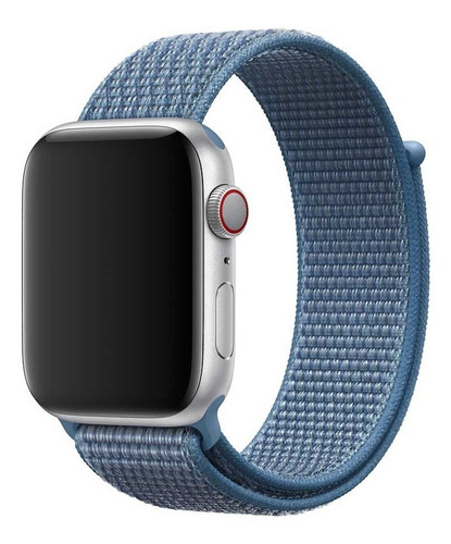 apple correa loop deportiva azul para apple watch 44mm