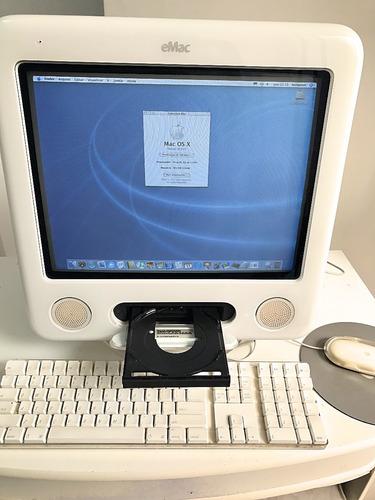 apple emac g4 1ghz 384mb ram 232gb hd