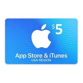 Apple Gift Card U$5 P/ Musica, Juegos Y Apps En iPhone O Mac