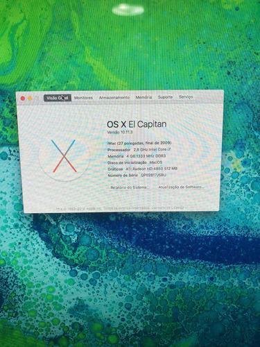 apple imac 27 polegadas 2,8ghz core i7 - troco por pc gamer.