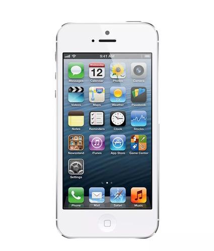 apple iphone 5 16gb prata 4g 3g nano 8mp seminovo c/ 2 capas