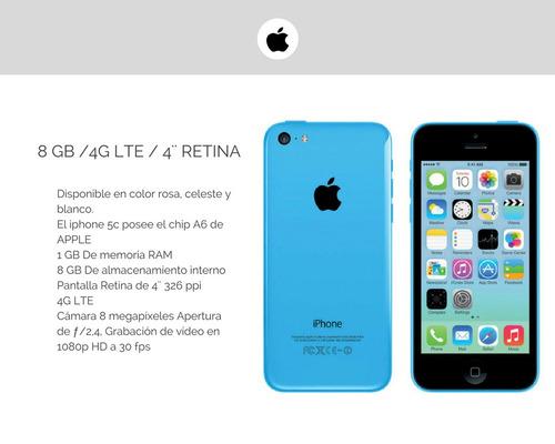 apple iphone 5c - 16gb - caja sellada - envio gratis