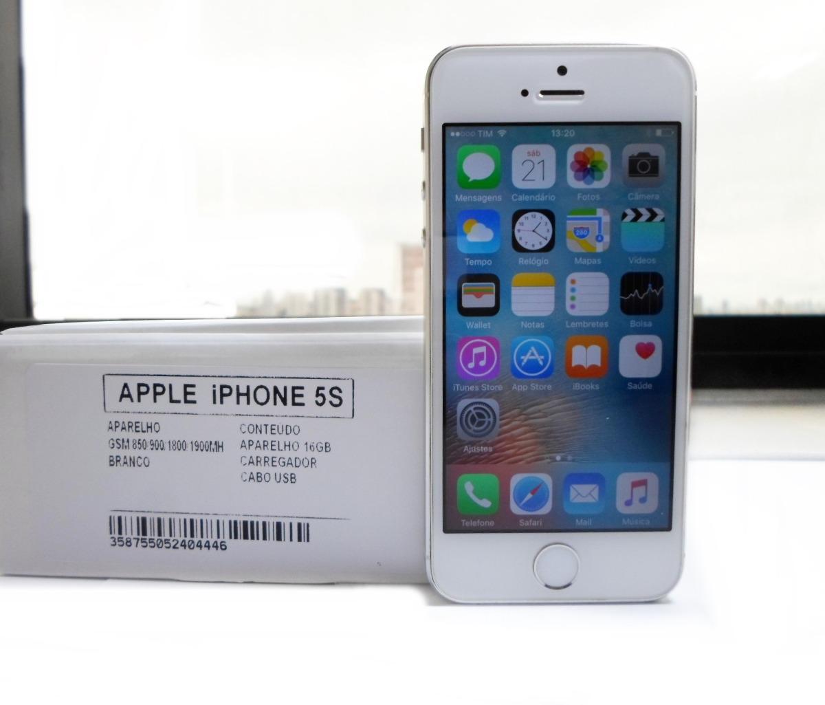 60124160c apple iphone 5s 16gb branco prata desbloqueado original nf-e. Carregando  zoom.