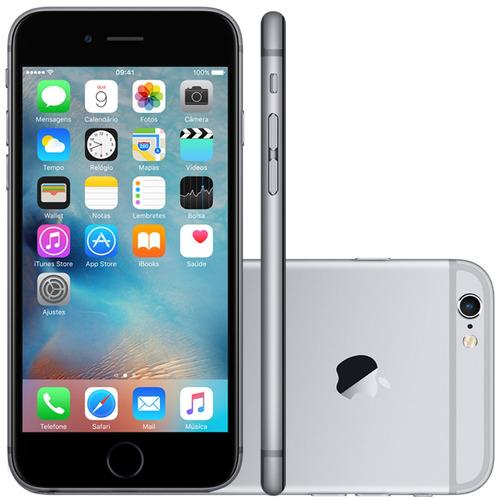 apple iphone 6 32gb 4g anatel tela 4,7 + capa + brinde