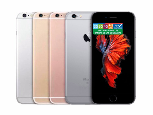 apple iphone 6s 16gb + lamina y carcasa / 12 cuotas