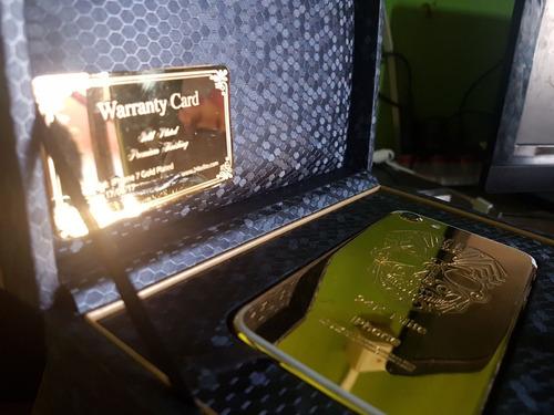 apple iphone 7 128gb banhado a ouro gold 24k 4g 12x s/ juros
