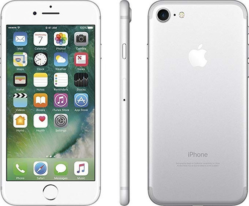 apple iphone 7 128gb +earpods +cable +cubo original liberado