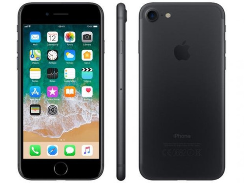apple iphone 7  128gb vitrine original tela 4k 12x sem jur