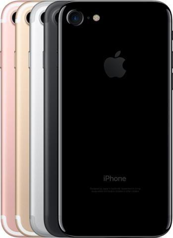 apple iphone 7 32gb 4g modelo a1778 + película vidro/capa nf