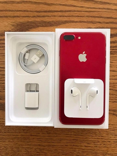 apple iphone 7 plus 128gb rojo nuevo desbloqueado