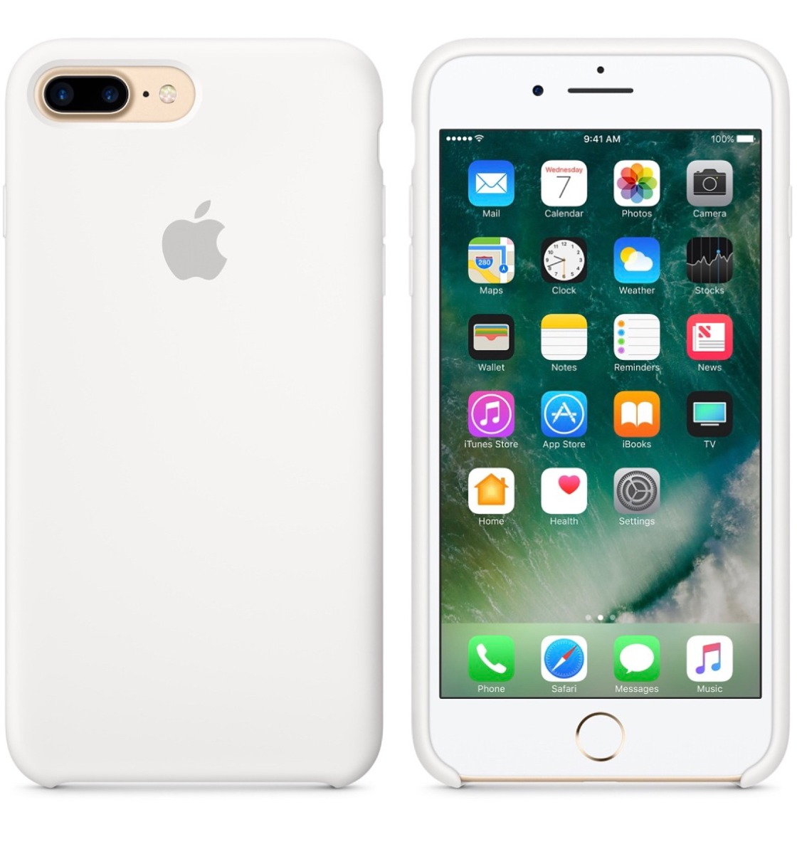 87347298e2b Apple iPhone 7/8 Plus Case Silicona Blanca Original. - $ 24.990 en ...