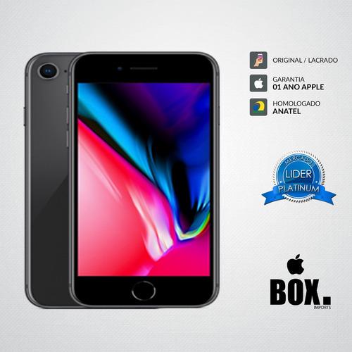 apple iphone 8 64gb cinza espacial 12x s/ juros + 2 brindes
