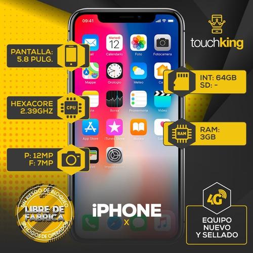 apple iphone x 64gb nuevo sellado libre de fabrica - negro
