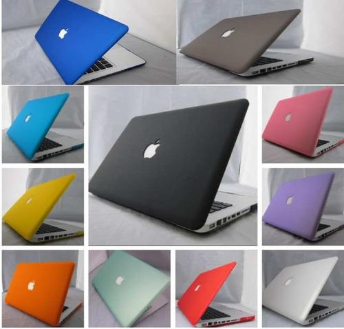 apple mac book pro 13 carcaza protector con troquel manzana