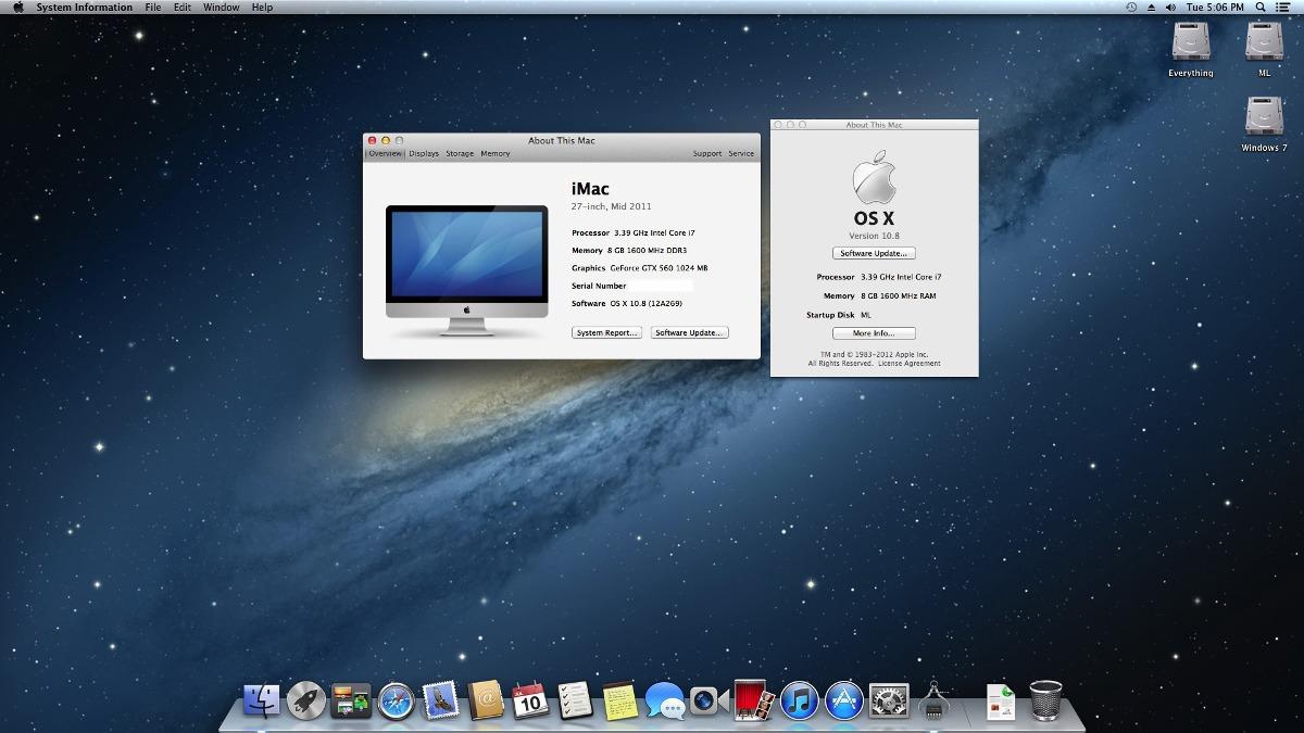 Resultado de imagen para Mac OS X Mountain Lion