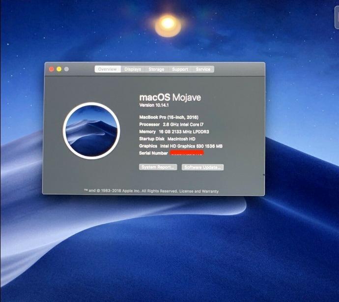 Apple Macbook Pro Touchbar 15 I7-2,6ghz 256gb 16gb Video 2gb