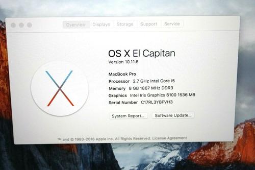 apple macbook pro retina 2.7 ghz 128gb 8gb