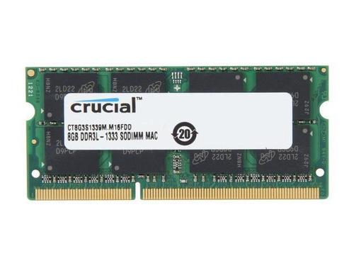 apple memoria ram 8gb ddr3 1333 o 1600 mhz portatil macbook