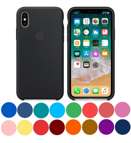 apple silicone case funda iphone xs / xs max xr colores