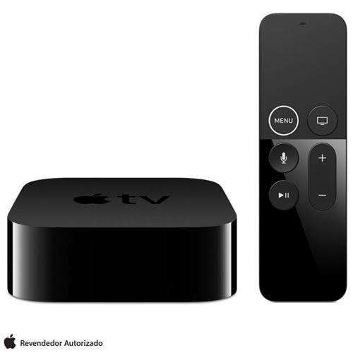 apple tv 4 geração 32gb conexão hdmi e bluetooth - mr912bz/a