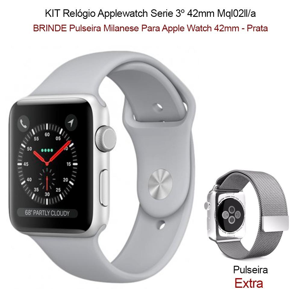 c31ce23194f apple watch 3 42mm gps prova dágua prata pronta entrega. Carregando zoom.
