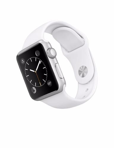 apple watch 7000 series 38mm aluminum case sport  blanco
