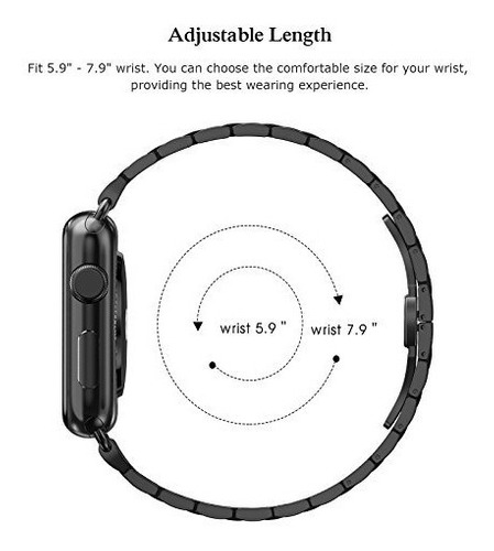 apple watch band 42mm acero inoxidable, swees iwatch ultra d