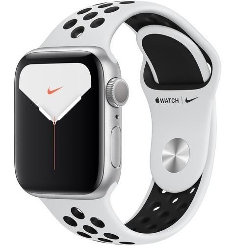 apple watch s 5 40mm silver, platinum/black nike 12x s/juros